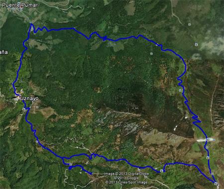 Ruta en Google Earth